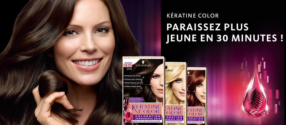 paraissez plus jeune en 30 minutes schwarzkopf keratine color coloration - Nuancier Schwarzkopf Coloration